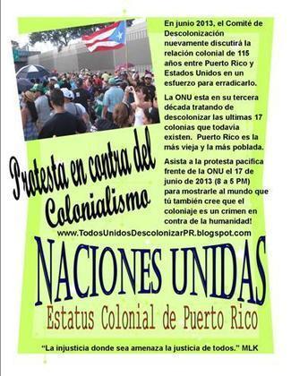 Compañeros Unidos para la Descolonización de Puerto Rico ¡Únete a 2 protestas hasta lograrlo! | Social Awareness | Scoop.it
