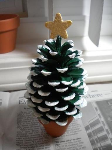 Pine Cone Christmas Tree | Craftspo | Scoop.it