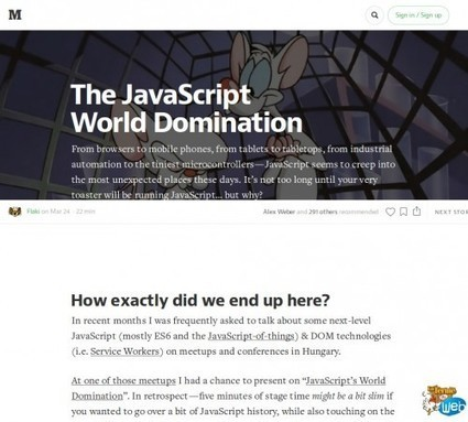 La domination du monde par le Javascript | Web Increase | Scoop.it