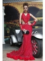 Cheap Red Evening Dresses With Sleeves - AnasDress.com | AnasDress | Scoop.it