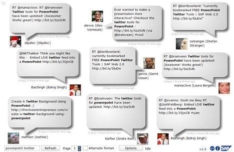 Informes de Twitter en tus presentaciones Powerpoint | Utilidades TIC para el aula | Scoop.it