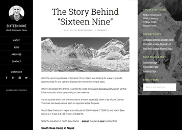 Sixteen Nine Pro v2.0 WP Theme by StudioPress [F] | Download Free Full Scripts | branding | Scoop.it
