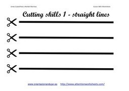 Cutting Skills Printables Worksheets collection | Attention Work Sheets | OT | Scoop.it