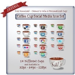 Dress up your website with a special set of social media icons from Kat's Cafe   Creative Ramblings - A Blog by Cendrine Marrouat   Business in a Social Media World   Scoop.it