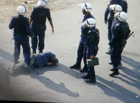 Man beaten by riot police in  Sanabis  9/23/2011 | Human Rights and the Will to be free | Scoop.it