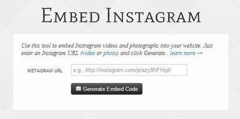 Comment intégrer une photo ou une vidéo Instagram dans votre site   e tourism   Scoop.it