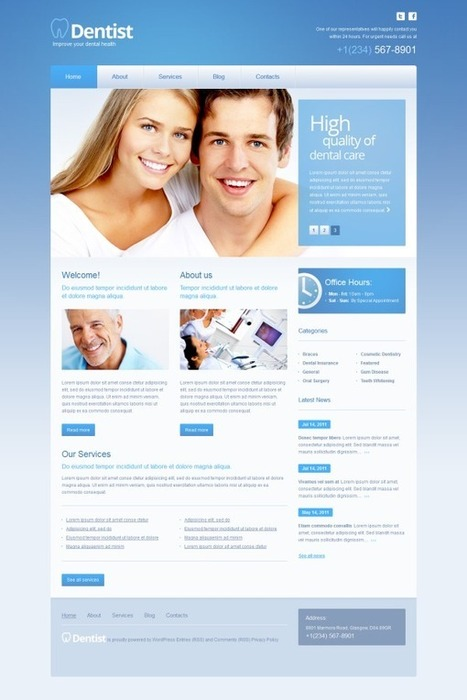 3 Pure Dentist wordpress themes for dental clinic website - Designmain | Designmain.com - Design, Inspiration & Freebies | Scoop.it