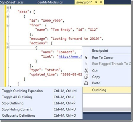 New JSON editor features in Visual Studio 2013 Update 2 CTP2 - .NET Web Development and Tools Blog - Site Home - MSDN Blogs | Web Development | Scoop.it