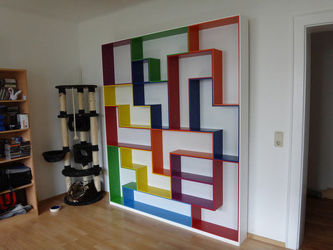 Tetris shelving, a geeky display and storage solution | Book Shelves | Scoop.it