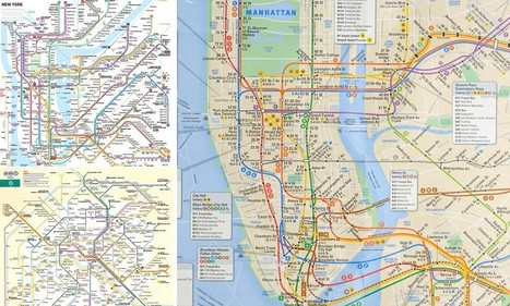 The universal Underground map: How city Tube maps would look if they were all ... - Daily Mail | Geokult | Scoop.it