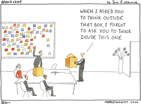 """Outside the Box"" Cartoon 
