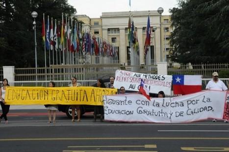 biobiochile - Chilenos protestan por estudiantes frente a Naciones Unidas en Ginebra | Basta de Lucro | Scoop.it