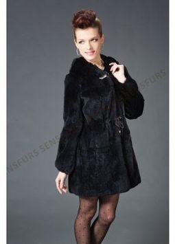 Women's Furs :: Fur Coats :: Rabbit :: Genuine Full Skin Rex Rabbit Stroller Coat - | furs | Scoop.it