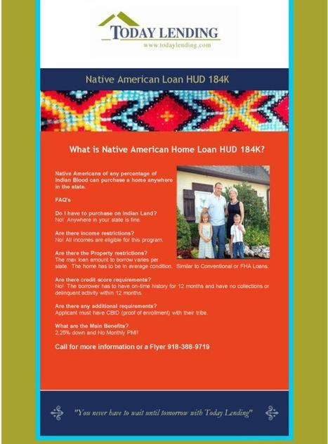 Native American Loan HUD 184K | Team Pendley REMAX REAL ESTATE TIPS | Scoop.it