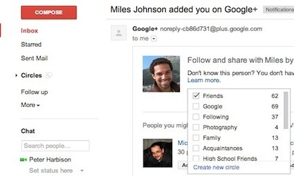 Add People to Google+ Circles Directly From Gmail | Socialyt Digital Marketing | Scoop.it