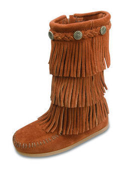 3-layer Fringe Boot - Shop Mens, Womens, Childrens Moccasins - The Moccasin Shop | Minnetonka Moccasin Shop | Scoop.it