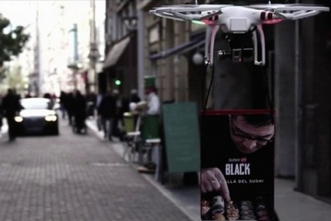 Ad-Toting Drone Lures Customers to Sushi Delivery Service - PSFK (blog) | Entreprenuership | Scoop.it