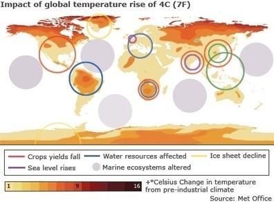 Climate Change Impact World Map Unveiled | Living with Climate Change | Scoop.it