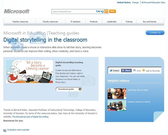 """Microsoft: Handleiding """"Digital storytelling in de klas"""" met Windows Live Movie Maker of Photo Story   Edu-Curator   Scoop.it"""