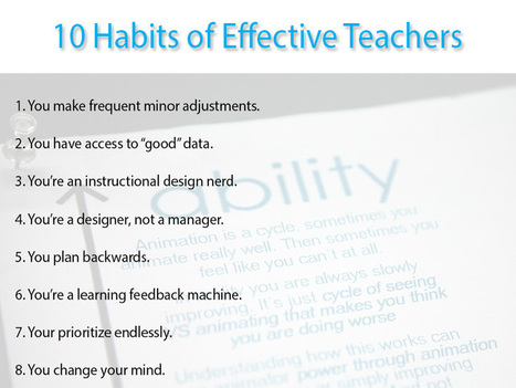 10 Habits Of Effective Teachers | Learning space for teachers | Scoop.it