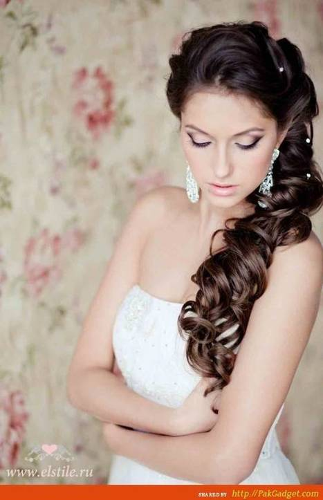 Jaw-Dropping, Stunning Bridal Formal Hair-Style Looks 2015 - Gul Ahmed, Firdous Lawn, Sana Safinaz, Swiss Lawn | Latest Fashion Designs | Scoop.it