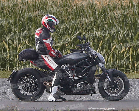 Spy Shots: New belt-driven Ducati Diavel spotted! | Ductalk Ducati News | Scoop.it