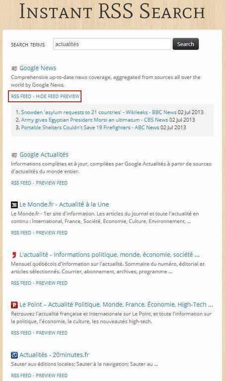 Recherche de flux RSS, Instant RSS Search | Les Infos de Ballajack | François MAGNAN  Formateur Consultant | Scoop.it