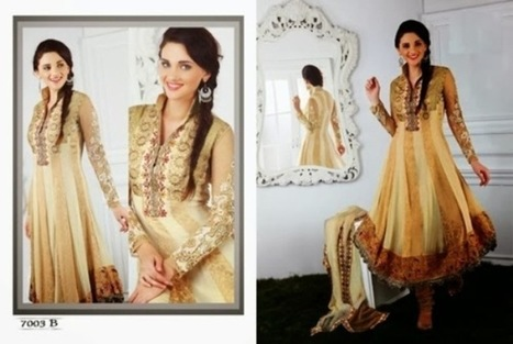 Indian Party Wear Fancy Frock Collection 2013 For Girls   smartinstep.com   Scoop.it