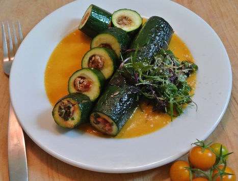 Zucchine ripiene alla Marchigiana - Stuffed zucchini Marche style | Le Marche and Food | Scoop.it