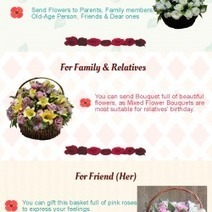 Upcoming Birthday of Special Ones-Send Birthday flowers for everyone in Egypt | Online Florist in Egypt | Scoop.it