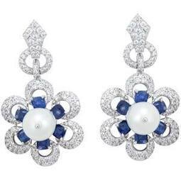 Wedding Wear Blue and Silver Earrings For women | Sonals Jewellery | Scoop.it