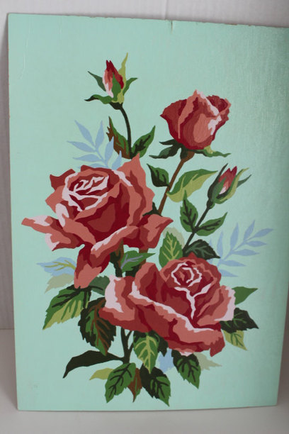 Vintage Paint by Number Roses | Antiques & Vintage Collectibles | Scoop.it