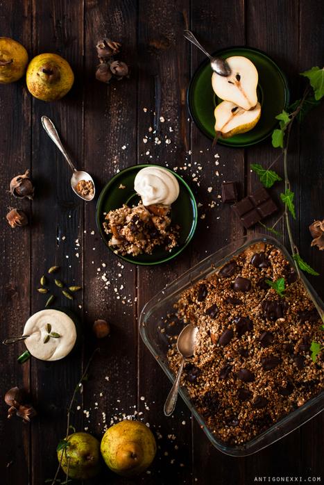CRUMBLE POIRE ET CHOCOLAT {végane & sans gluten} | Passion for Cooking | Scoop.it