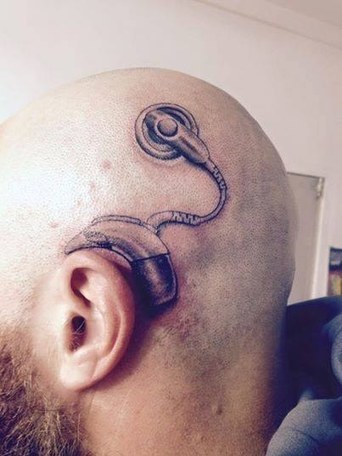 Badass Dad Gets A Cochlear Implant Tattoo To Match His Daughter | Cyborg Anthropology: the rise of the machines | Scoop.it