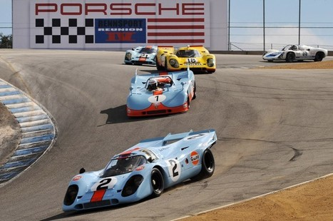 Rennsport Reunion IV: 350 Porsches take to the track | Historic cars and motorsports | Scoop.it