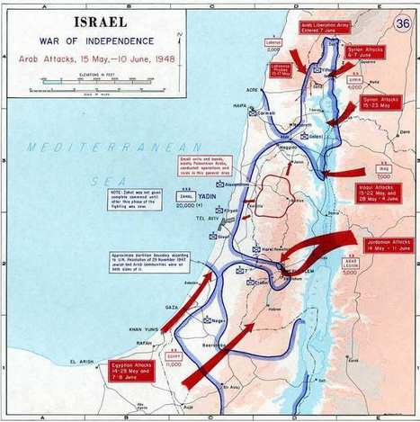 1947-1949 - La Guerra de la Independencia de Israel - Mis Juderías | 1948 Israel War of Independence | Scoop.it