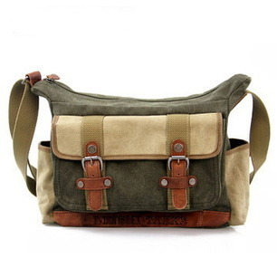 Mens leather and coated canvas cross shoulder bags from Vintage rugged canvas bags | personalized canvas messenger bags and backpack | Scoop.it