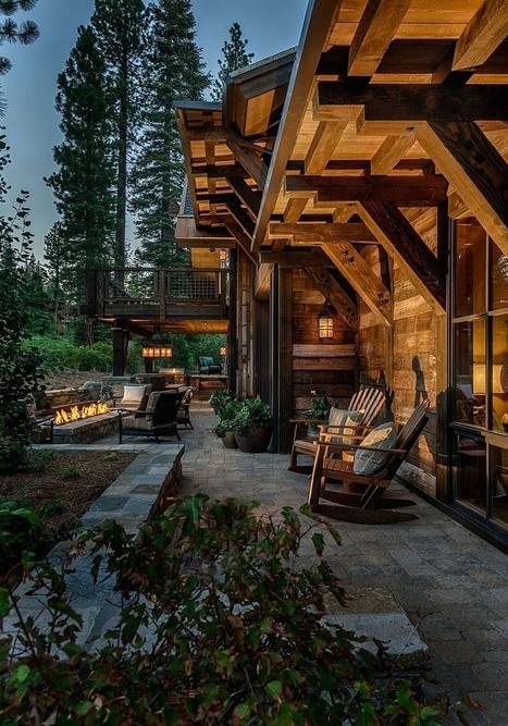 Stunning Cabin Retreat Brings Rustic Texan Charm to Lake Tahoe | Inspired By Design | Scoop.it