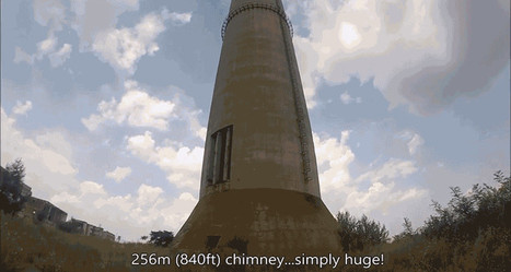 Watching This Guy Unicycle on Top of a 70-Story Chimney Will Scare Your Pants Off | LibertyE Global Renaissance | Scoop.it