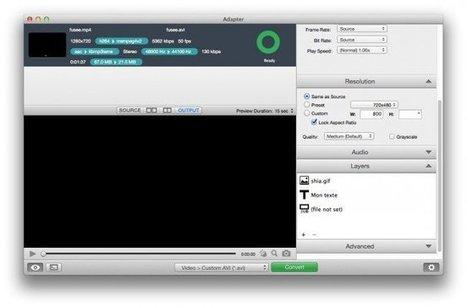 Adapter - Pour convertir vos vidéos, images et sons facilement | Geeks | Scoop.it