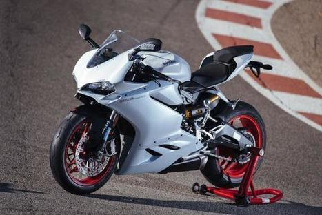 "Riding Ducati's new ""Super Mid"" superbike, the 959 Panigale. 