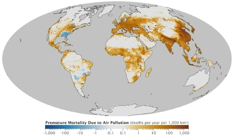 IAUC Newsletter No 49 now available – Deaths per 1,000 square kilometers per year due to air pollution   International Association for Urban Climate   Great Urban Place Making   Scoop.it