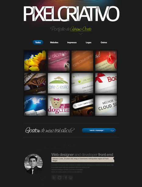 35 Examples of HTML5 Portfolio Sites | Best Design Web Gallery | Veille Web Graphisme | Scoop.it