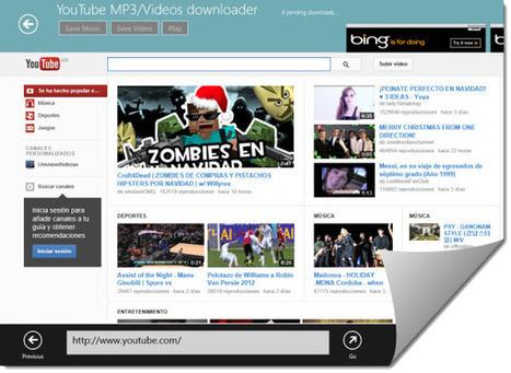 Bajando videos o audio de #YouTube desde #Windows8   Desktop OS - News & Tools   Scoop.it