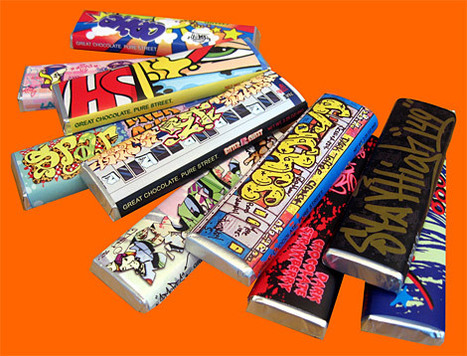 Graffiti Chocolate Bars | Uncrate | OFF THE CANVAS DESIGN | Scoop.it