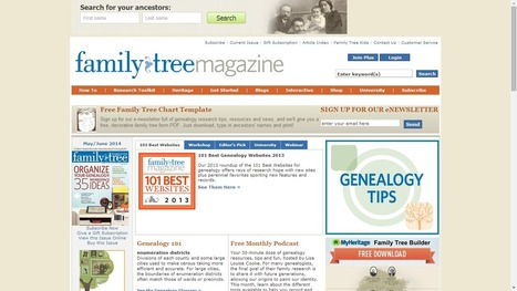 Family Tree Magazine Highlights Best 101 Genealogy Websites for 2014 | Education | Scoop.it