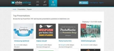 SlideOnline te ayuda a compartir presentaciones online   Las TIC y la Educación   Scoop.it