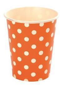 Acheter 10 Gobelets à pois en carton, orange, Gobelets et tasses, Verres jetables, Vaisselle jetable et verrines, Art de la table, Mariage - Articles Fêtes   gobelets couleur   Scoop.it
