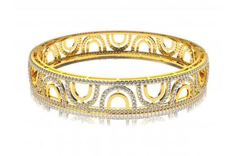 Daily Wear Diamond Bangle | Diamond Solitaire Ring | Scoop.it