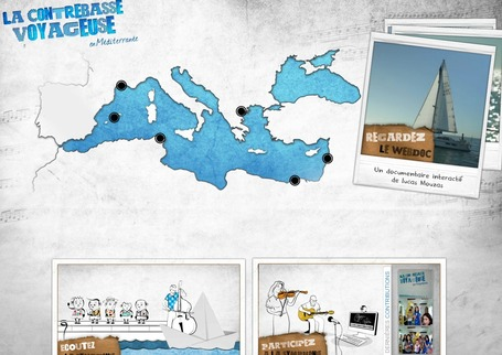 Web documentaire La Contrebasse Voyageuse en Méditerranée | Interactive & Immersive Journalism | Scoop.it